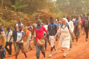 25. pielgrzymka młodych do groty M. B. w Nguelemendouka