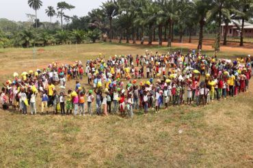 Pielgrzymka dzieci w Nguelemendouka 2020